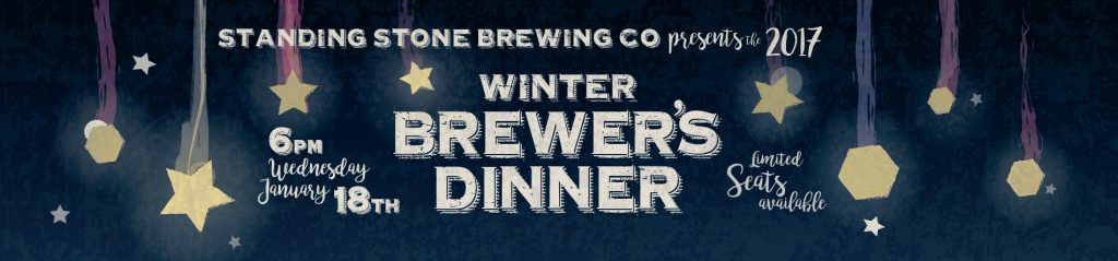 2017 Winter Brewer's Dinner at Standing Stone